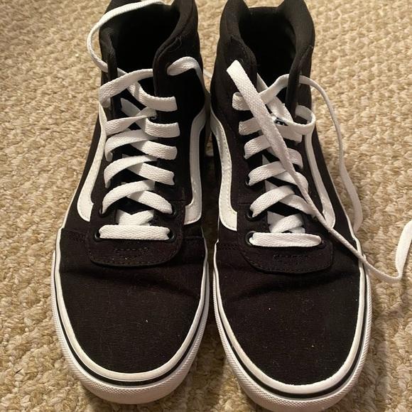Vans Shoes | Womens Black High Top Size